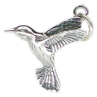 Hummingbird Sterling Silver Charm Humming Bird .925 X 1 Birds Charms - 3560