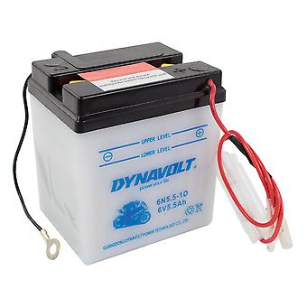 Dynavolt 6N551D Conventional Dry Charge Battery With Acid Pack