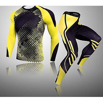 Solid Color Vaatteet Compress Fitness Pitkät leggingsit