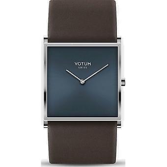 VOTUM - Reloj de señoras - SQARE - Puro - V02.10.30.03 - correa de cuero - marrón oscuro