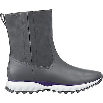 Cole Haan Women's Shoes Zg Xc Boot (Wp) Leather Almond Toe Mid-Calf Cold Weat...
