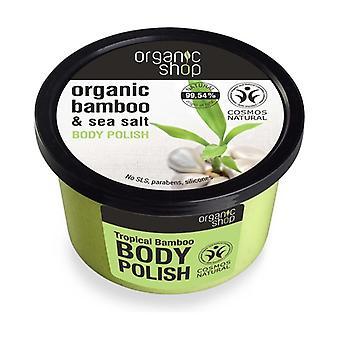 Organic Bamboo and Sea Salt Body Polish 250 ml of cream