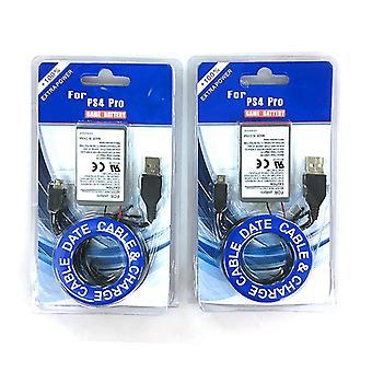 Baterie reîncărcabilă, încărcător USB și cablu de date pentru Ps4