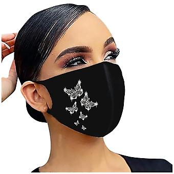 Fashion Butterfly Printing Reusable Masque Outdoor Dustproof Breathable Masks