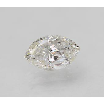 Certified 0.62 Carat D SI1 Marquise Enhanced Natural Loose Diamond 6.9x4.39m 2VG