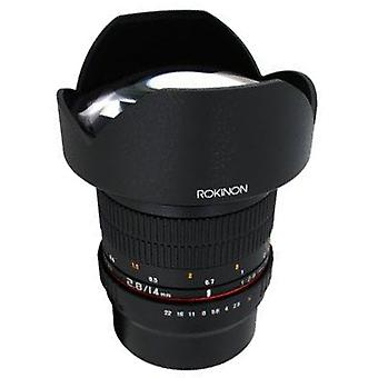 Rokinon fe14m fx 14mm F2.8 عدسة واسعة جدا للكاميرات فوجي فيلم x-جبل