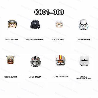 8pcs/set Clone Stormtroopers Tusken Raider Assemble Bausteine Bricks Star