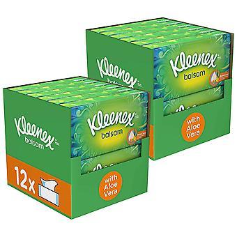 Kleenex Facial Tissues Balsam with Aloe Vera - 24 Boxes