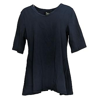 Women with Control Women's Top V Neck Jersey Black A393299