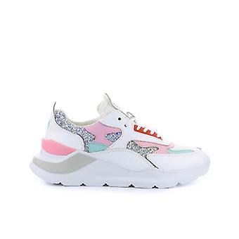 D.a.t.e Fuga Glitter Pink Silver Sneaker