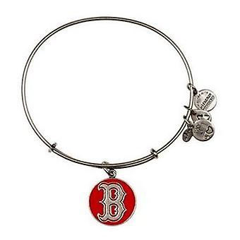 Alex and Ani Red Boston Red Sox Cap Logo Charm Bangle Rafaelian Bracelet - AS12BRS03RS