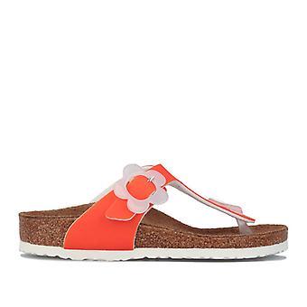 Jente's Birkenstock Barn Gizah Sandals i Orange