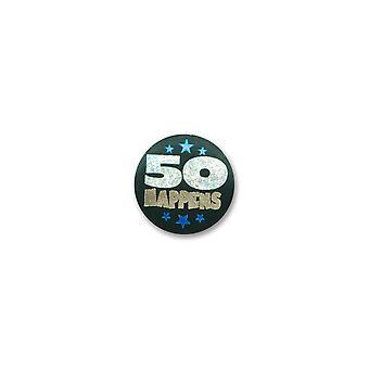 50 Happens Satin Button (Packung mit 6)