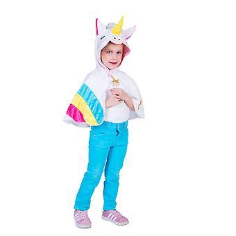 Poncho à capuche licorne arc-en-ciel enfant