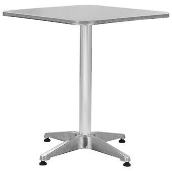 vidaXL Garden Table Silver 60 x 60 x 70 cm Aluminium