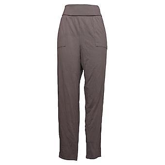 أي شخص المرأة و apos;s السراويل دافئ Knit Foldover الركض الأرجواني A388558