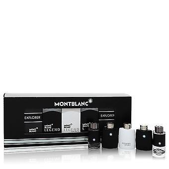 Montblanc Explorer von Mont Blanc Geschenk-Set -- 2 x 0,15 Mini EDT in Montblanc Legende + 2 x .15 Mini EDP Spray in Montblanc Explorer + 0,15 Unzen Mini EDT in Montblanc Legende Geist