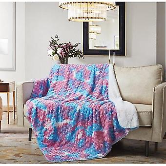 Spura Home Ombre Cotton Candy Pink 4x5 Sherpa Throw