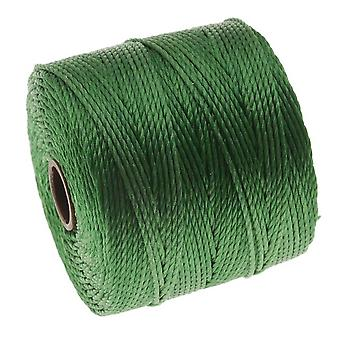 Super-Lon (S-Lon) Cord - Size 18 Twisted Nylon - Green / 77 Yard Spool