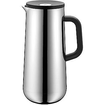 Wokex Impulse Thermoskanne Edelstahl 1l, Isolierkanne für Kaffee oder Tee, Cromargan,