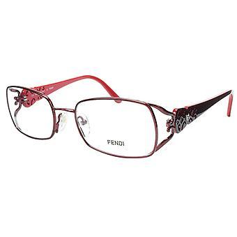 FENDI Eyeglasses Frame F872 (615) Metal Acetate Bordeaux Italy Made 52-17-135 34