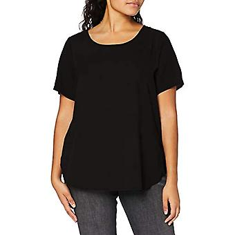 Only Carmakoma CARVICA SS AOP Top Noos T-Shirt, Black, 48 Woman