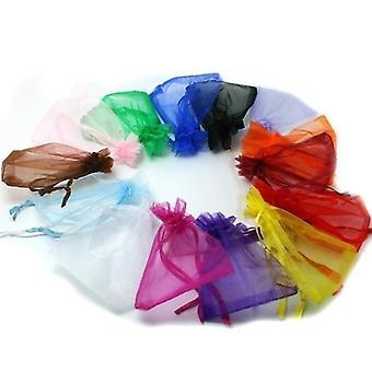 Embalaje de joyería bolsas de Organza dibujables