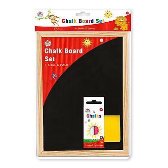 Kids Create A4 Chalk Board 4 Pieces Of Chalk & Chalk Duster