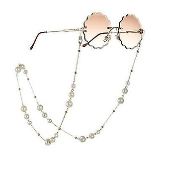 Akryyli helmi kristalli silmälasit ketjut taljaköysi