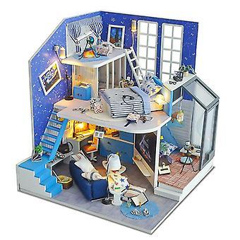 Diy لعبة صغيرة منزل اليدوية نموذج لعبة هدية عيد ميلاد