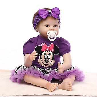 "Reborn Baby Dolls Docka Mjukt Silikon 22 ""/ 55cm Lifelike Newborn Doll Girl gift"