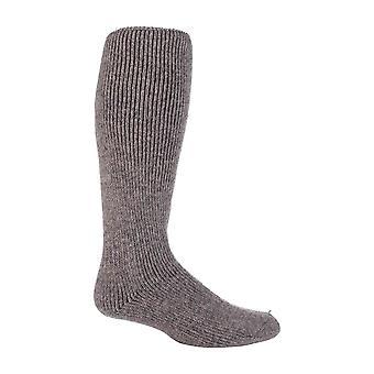 Mens extra lång knä hög termisk ull rika strumpor