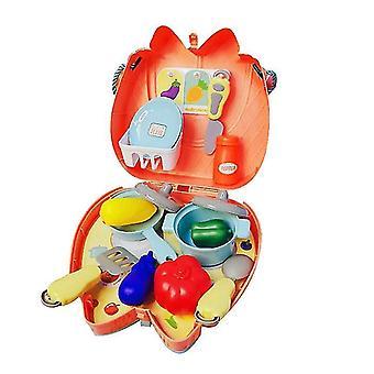 ピクニック1セット 16pcs 子供のおもちゃセットキッチンクッキングセット化粧品バッグドクター幼稚園ギフト dt5285