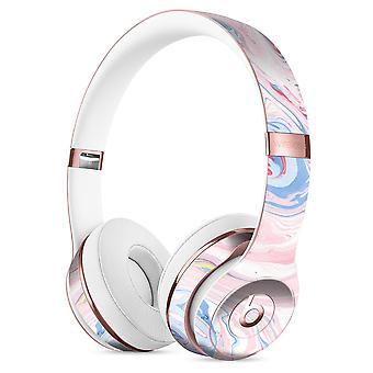 Marbleized Pink And Blue Swirl V2123 Full-body Skin Kit For The Beats