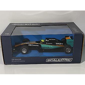Scalextric C3669 GP Racer Musta Vihreä 1:32 Asteikko
