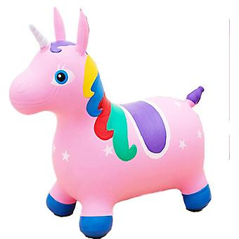Painted Jumping Unicorn Inflatable Toy Kidss Bouncy Game