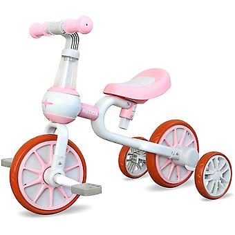 3 in 1 Kinder Laufrad ab 2 Jahr | Dreirad Spielzeug für 10-48 Monate Jungen und Mädchen | Baby