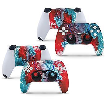2 x Playstation 5 PS5-handkontrollskal Full Wrap Vinyl Klistermärke