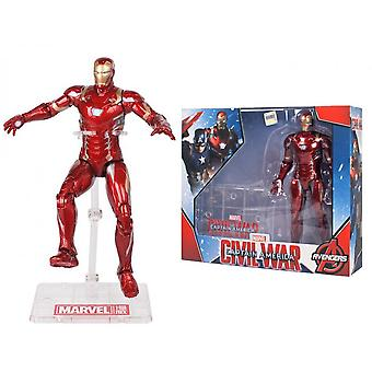 The Avengers! Marvel! Iron Man Movable Toy Doll, 17cm, Children's Toys, Holiday Gifts, Men's Collection
