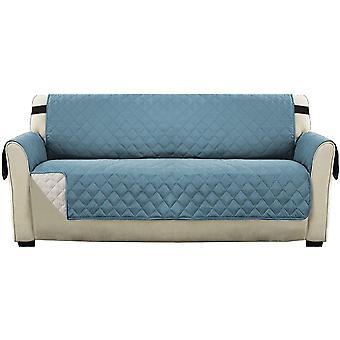 """عكس أريكة الانزلاق الأثاث حامي غطاء أريكة مقاومة حامي، ويغطي الأريكة ل1/2/3 مقعد مع 2 """"الأشرطة المرنة، الأزرق"""