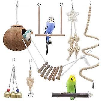 Parrot Toy Bird Products Combination Set Coconut Shell Toy Bird Products