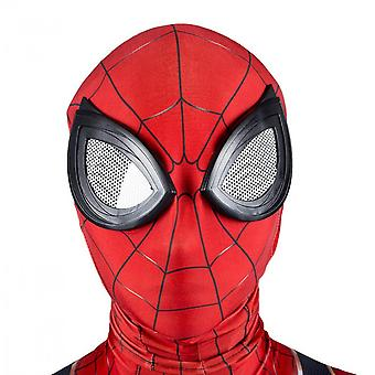 Halloween Show Spiderman Headgear (2 Pieces Of Red) Adult Spiderman Mask Avenger Costume Mask, Made Of 100% Polyester. Size: Free Size, Weight: About