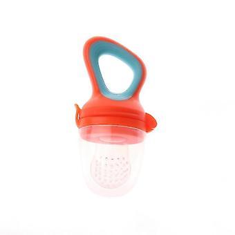 Scandinavian style modern non toxic toddler nibbler pacifier feeder(Orange Blue)