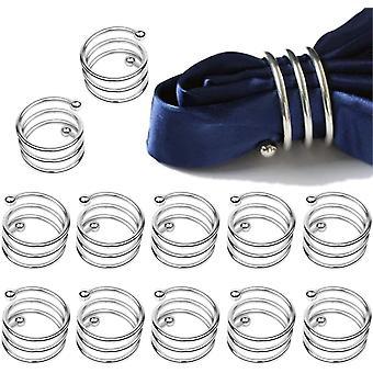 Ensemble d'anneaux de serviette pour la décoration de table 12 Pcs
