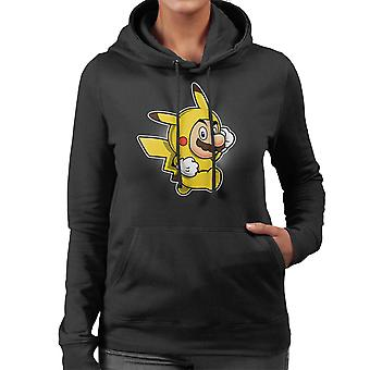 Pika Suit Super Mario Pikachu Pokemon Women's Hooded Sweatshirt