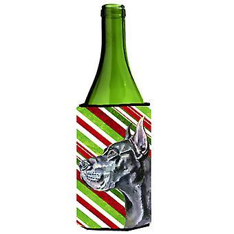 Musta tanskandoggi tikkukaramelli Holiday joulua viinipullo juoma eriste halaus