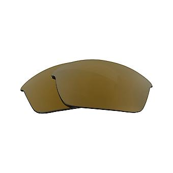 Replacement Lenses for Oakley Flak Jacket XLJ Sunglasses Gold Anti-Scratch Anti-Glare UV400 by SeekOptics