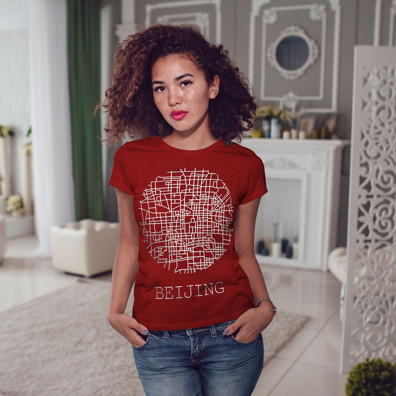 Ville de Beijing Carte mode RedT-chemise femme | Wellcoda