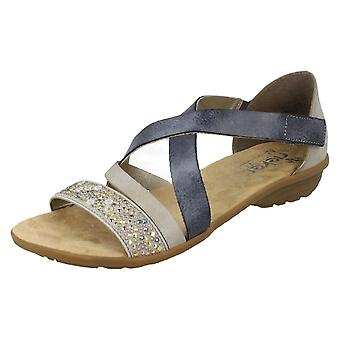 Ladies Rieker Strappy Sandals V3405-42 - Blue Combi - UK Size 3.5 - EU Size 36 - US Size 5.5