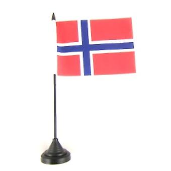 Norway Table Flag with Stick and Base